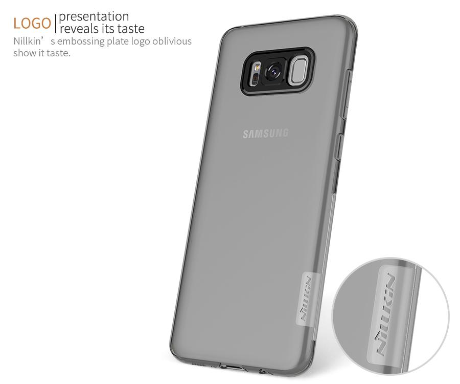 Logo Nillkin trên ốp lưng Samsung S8