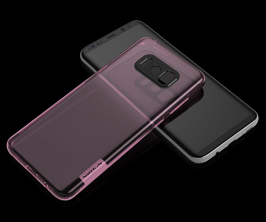 Ốp lưng silicon Samsung Galaxy S8 Plus hiệu Nillkin gần như trong suốt hoàn toàn