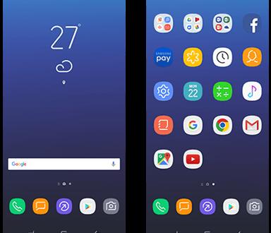 Giao diện TouchWiz mới trên Galaxy S8