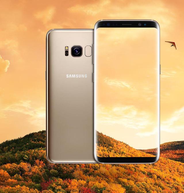 Màu vàng sang trọng trên Galaxy S8