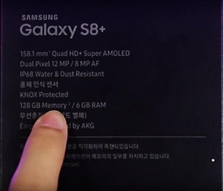 Thông số kỹ thuật Galaxy S8 Plus Ram 6Gb