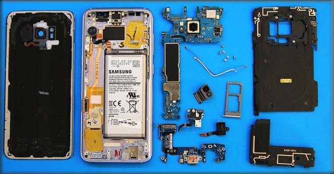 Toàn bộ linh kiện Galaxy S8