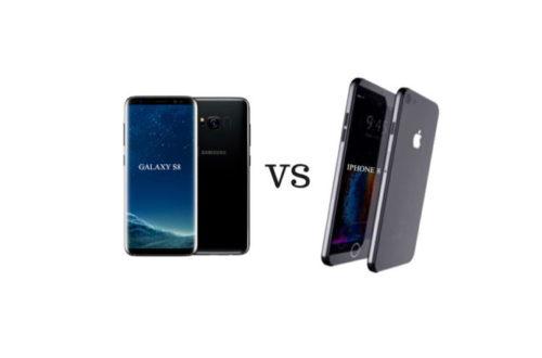 ảnh galaxy s8 và iphone 8