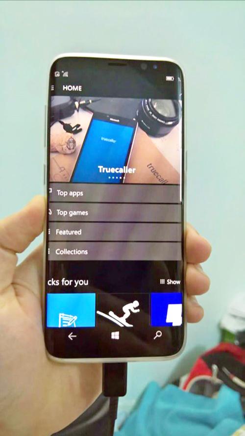 UI win dớ 10 Mobile trên s8