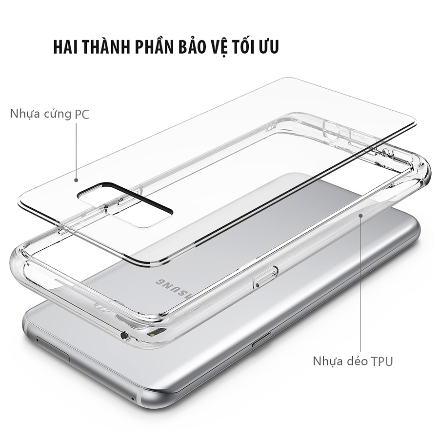 Ốp lưng trong suốt cho Galaxy S8 Plus