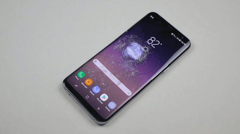 galaxy s8 vỡ màn hình