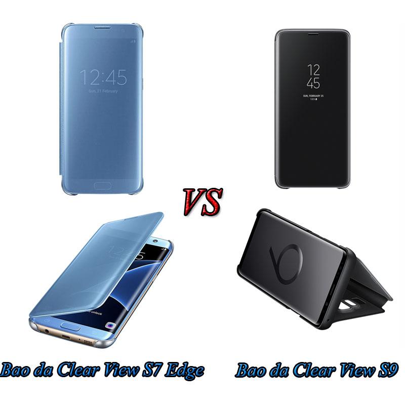 So sánh bao da Clear View S7 Edge vs S9