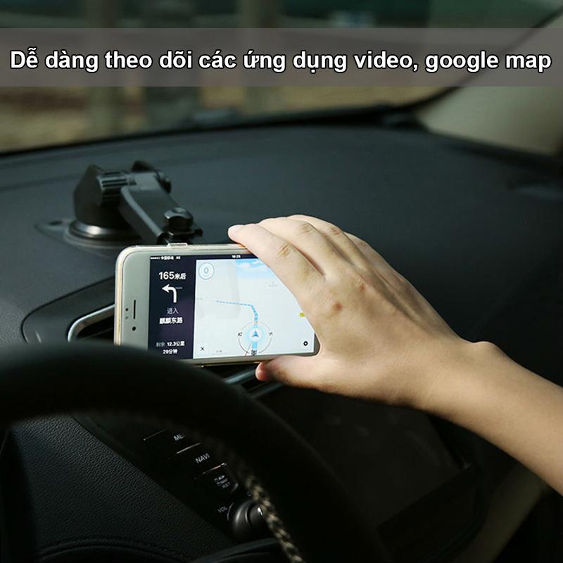 Giá đỡ điện thoại trên oto hiệu Baseus giúp bạn thuận tiện khi lái xe, xem bản đồ, video,...