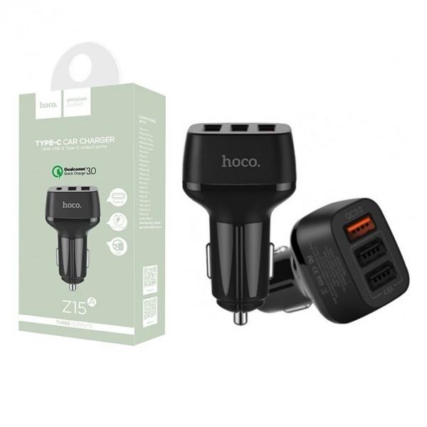 Cục sạc điện thoại đa năng HOCO Z15A 3 cổng USB chính hãng