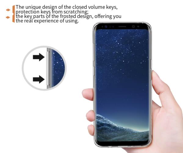 Phím bấm cho cảm giác êm, độ đàn hồi tốt trên ốp lưng Samsung S8 Nillkin