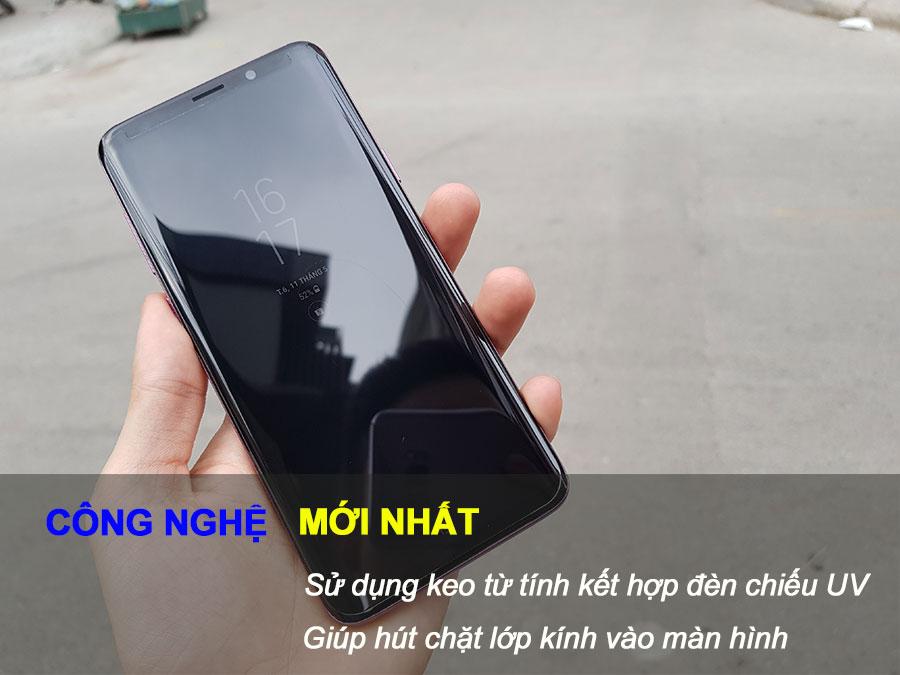 Kính cường lực FULL keo Galaxy S9 Plus kết hợp tia UV