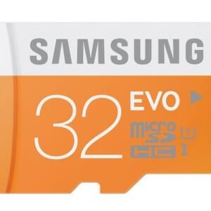 Thẻ nhớ Micro SD 32GB Evo Samsung chính hãng.