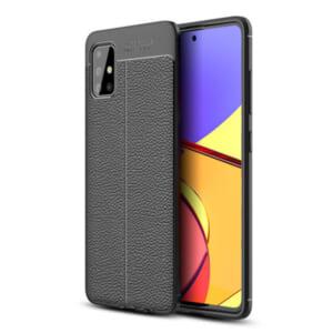 mua ốp lưng Samsung Galaxy A51 giả da chống bám vân tay hiệu Olixar đẹp giá rẻ chính hãng tốt nhất