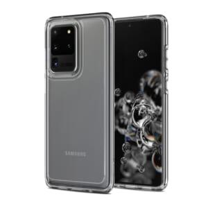 Ốp lưng Spigen Samsung S20 Ultra Crystal Hybrid trong suốt đẹp chính hãng