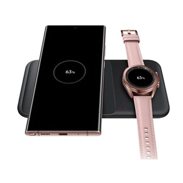 Đế sạc đôi không dây Samsung EP-P4300 9W 2021 cho Galaxy S21   S21 Plus   S21 Ultra